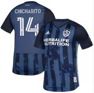 LA Galaxy #14 Chicharito blue 2020 25th Season Celebration Soccer Club Jersey