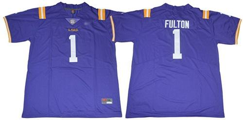 LSU Tigers #1 Kristian Fulton Purple Limited Stitched College Football Jersey