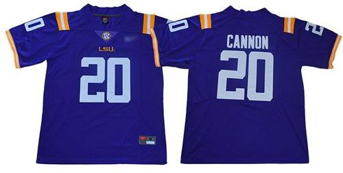 LSU Tigers #20 Billy Cannon Purple Limited Stitched College Football Jersey