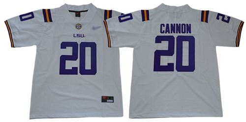 LSU Tigers #20 Billy Cannon White Limited Stitched College Football Jersey