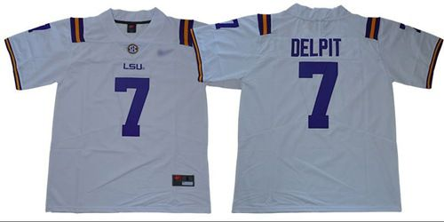 LSU Tigers #7 Grant Delpit White Limited Stitched College Football Jersey