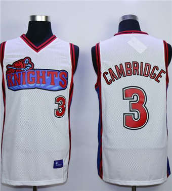 Like Mike Movie Los Angeles Knights #3 Calvin Cambridge White Stitched Basketball