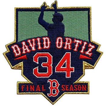 Baseball Boston Red Sox #34 David Ortiz Men's Retirement Patch