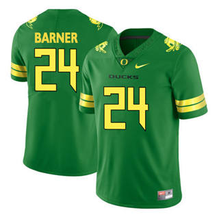 Men's 2019 Oregon Ducks #24 Kenjon Barner Green Football Jersey