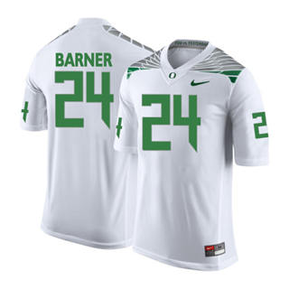 Men's 2019 Oregon Ducks #24 Kenjon Barner NCAA Jersey Wings White