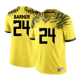 Men's 2019 Oregon Ducks #24 Kenjon Barner NCAA Jersey Wings Yellow