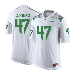 Men's 2019 Oregon Ducks #47 Kiko Alonso NCAA Jersey Wings White