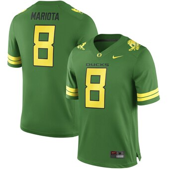Men's 2019 Oregon Ducks #8 Marcus Mariota Apple Green Alumni Football Jersey