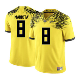Men's 2019 Oregon Ducks #8 Marcus Mariota NCAA Jersey Wings Yellow