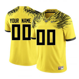 Men's 2019 Oregon Ducks Custom Name Number Yellow NCAA Football Jersey