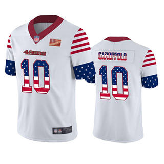 Men's 49ers #10 Jimmy Garoppolo White Stitched Football Limited Independence Day Jersey