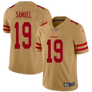 Men's 49ers #19 Deebo Samuel Gold Stitched Football Limited Inverted Legend Jersey