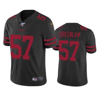 Men's 49ers #57 Dre Greenlaw Black Vapor Untouchable Limited Jersey