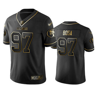 Men's 49ers #97 Nick Bosa Black Stitched Football Limited Golden Edition Jersey