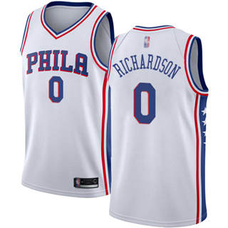 Men's 76ers #0 Josh Richardson White Basketball Swingman Association Edition Jersey