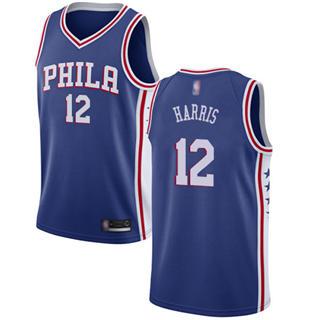 Men's 76ers #12 Tobias Harris Blue Basketball Swingman Icon Edition Jersey