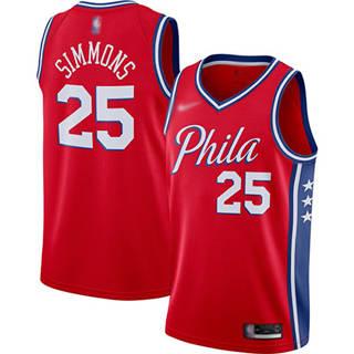 Men's 76ers #25 Ben Simmons Red Basketball Swingman Statement Edition 2019-2020 Jersey