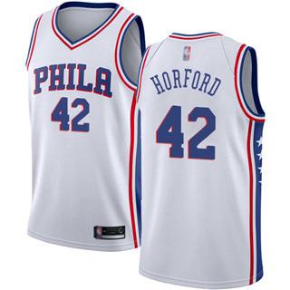 Men's 76ers #42 Al Horford White Basketball Swingman Association Edition Jersey