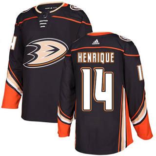 Men's  Anaheim Ducks #14 Adam Henrique Black Home  Stitched Hockey Jersey