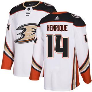 Men's  Anaheim Ducks #14 Adam Henrique White Road  Stitched Hockey Jersey