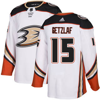 Men's  Anaheim Ducks #15 Ryan Getzlaf White Road  Stitched Hockey Jersey