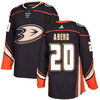 Men's  Anaheim Ducks #20 Pontus Aberg Black Home  Stitched Hockey Jersey