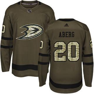 Men's  Anaheim Ducks #20 Pontus Aberg Green Salute to Service Stitched Hockey Jersey