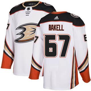 Men's  Anaheim Ducks #67 Rickard Rakell White Road  Stitched Hockey Jersey