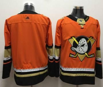 Men's  Anaheim Ducks Blank Orange  Stitched Hockey Jersey