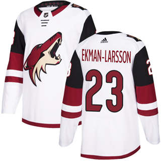 Men's  Arizona Coyotes #23 Oliver Ekman-Larsson White Road  Stitched Hockey Jersey