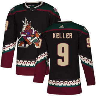 Men's  Arizona Coyotes #9 Clayton Keller Black Alternate  Stitched Hockey Jersey