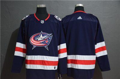 Men's  Blue Jackets Blank Navy Stitched Hockey Hockey Jersey