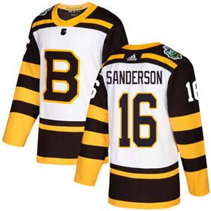 Men's  Boston Bruins #16 Derek Sanderson White  2019 Winter Classic Stitched Hockey Jersey