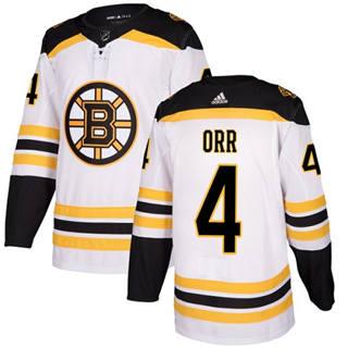 Men's  Boston Bruins #4 Bobby Orr White Road  Stitched Hockey Jersey