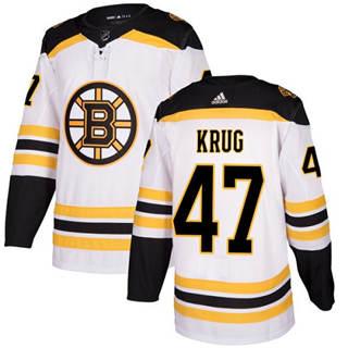 Men's  Boston Bruins #47 Torey Krug White Road  Stitched Hockey Jersey