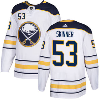 Men's  Buffalo Sabres #53 Jeff Skinner White Road  Stitched Hockey Jersey