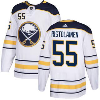 Men's  Buffalo Sabres #55 Rasmus Ristolainen White Road  Stitched Hockey Jersey