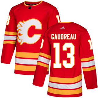 Men's  Calgary Flames #13 Johnny Gaudreau Red Alternate  Stitched Hockey Jersey