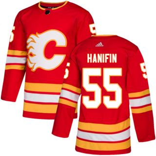 Men's  Calgary Flames #55 Noah Hanifin Red Alternate  Stitched Hockey Jersey