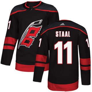 Men's  Carolina Hurricanes #11 Jordan Staal Black Alternate  Stitched Hockey Jersey