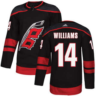 Men's  Carolina Hurricanes #14 Justin Williams Black Alternate  Stitched Hockey Jersey