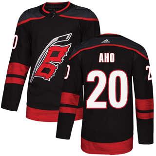 Men's  Carolina Hurricanes #20 Sebastian Aho Black Alternate  Stitched Hockey Jersey