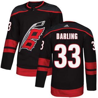 Men's  Carolina Hurricanes #33 Scott Darling Black Alternate  Stitched Hockey Jersey