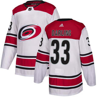 Men's  Carolina Hurricanes #33 Scott Darling White Road  Stitched Hockey Jersey