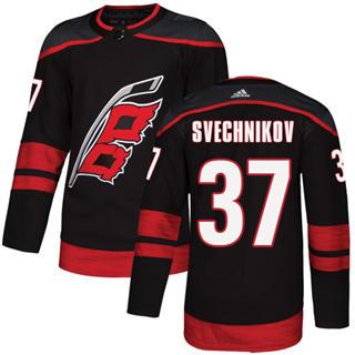 Men's  Carolina Hurricanes #37 Andrei Svechnikov Black Alternate  Stitched Hockey Jersey