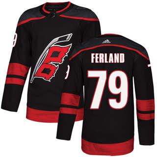 Men's  Carolina Hurricanes #79 Michael Ferland Black Alternate  Stitched Hockey Jersey