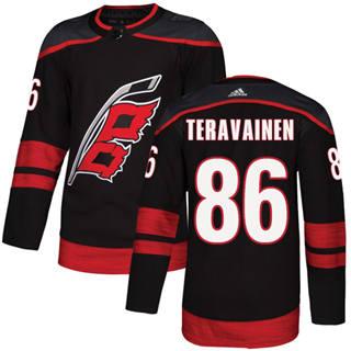 Men's  Carolina Hurricanes #86 Teuvo Teravainen Black Alternate  Stitched Hockey Jersey