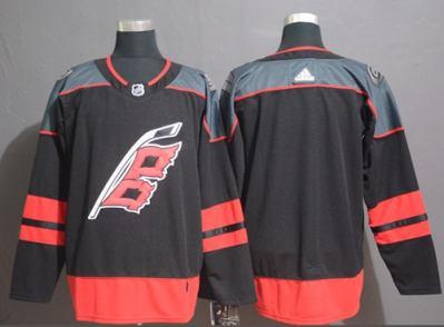 Men's  Carolina Hurricanes Blank Black Alternate  Stitched Hockey Jersey
