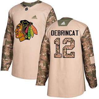 Men's  Chicago Blackhawks #12 Alex DeBrincat Camo  2017 Veterans Day Stitched Hockey Jersey