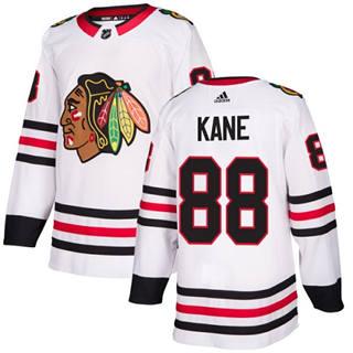 Men's  Chicago Blackhawks #88 Patrick Kane White Road  Stitched Hockey Jersey